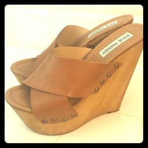 Steve Madden Banddy leather wedges